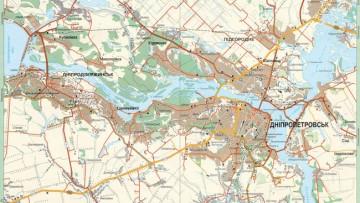 Карта Днепропетровска